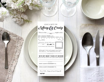 Wedding Questionnaire For Your Guests