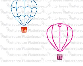 hot air balloon, line only, UNLIMITED use, cut file, silhouette cameo file, SVG cutting file