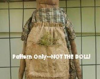 Doll epattern-NOT DoLL, Primitive prairie MAGILacutty 109e Crows Roost Prims epattern  immediate download