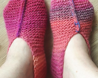 Gradient pink 38-39 slippers