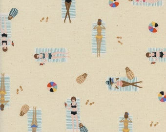 Cotton + Steel - Rifle Paper Co. - Amalfi Collection - Sun Girls in Natural