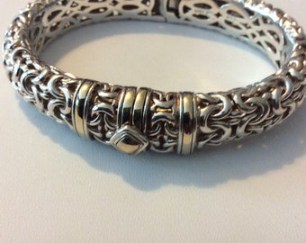 Sterling and 14k gold bracelet