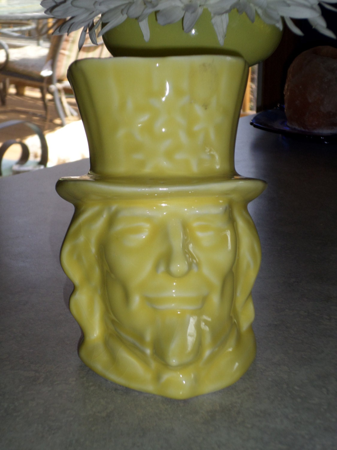 Mccoy pottery uncle sam planter patriotic head vase in yellow zoom reviewsmspy