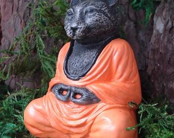 Cat Buddha, Zen Buddha Garden, Buddha sculpture, Zen garden, spiritual, Zen Meditation, home decor, meditation, Altar, religion, 708