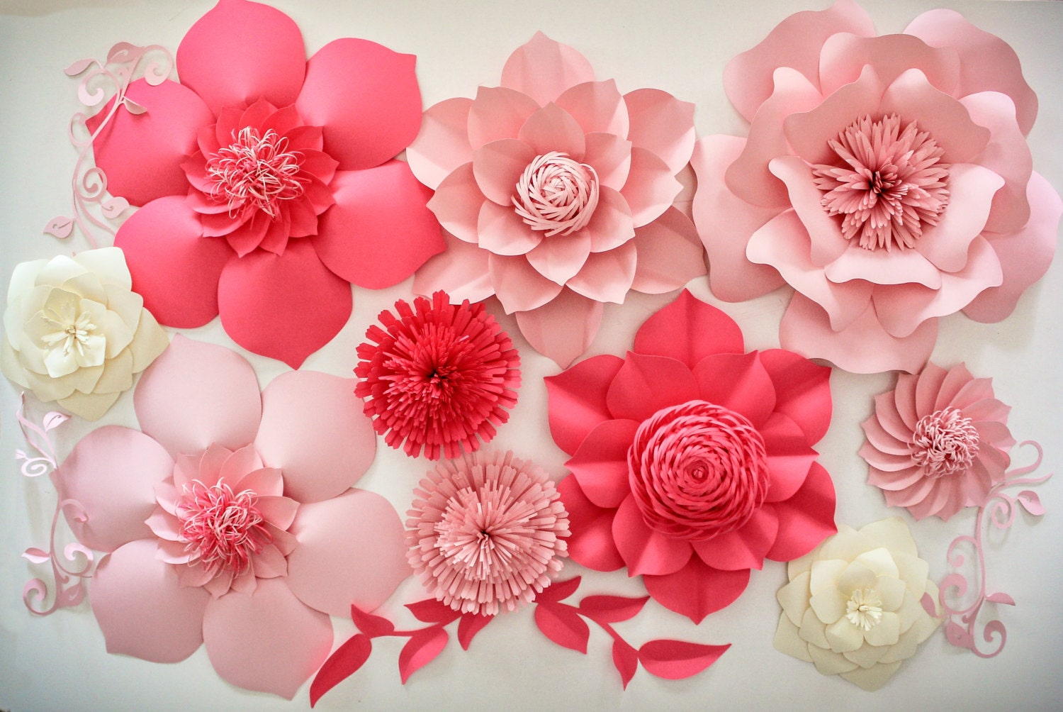 Paper flower backdrop romeondinez paper flower backdrop mightylinksfo
