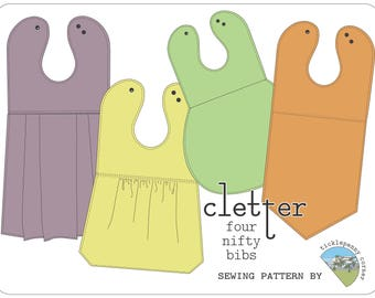 Cletter Collection of Nifty Baby Bibs Sewing Pattern