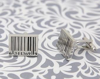 ON SALE Bar Code Barcode Cufflinks