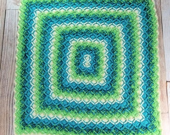 Handmade Baby Blanket - Soft Baby Blanket - Stroller Blanket - Crib Blanket - Car Seat Blanket - Shower Gift - Heirloom Blanket