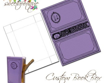 Book Box - Favor Box - Gift Box - Graduation Favour Box - Printable - Digital File
