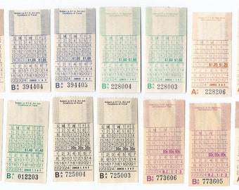 14 Vintage Mixed Bus Tickets from Adelaide, Australia