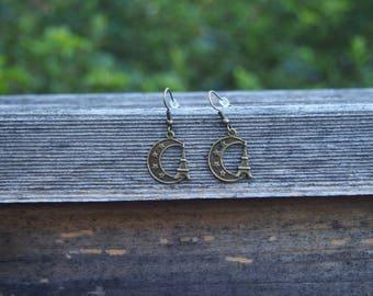 Parisian Moonlight Charm Earrings