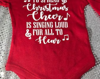 Buddy the Elf The Best Way to Spread Christmas Cheer is Singing Loud for All to Hear Baby Onesie