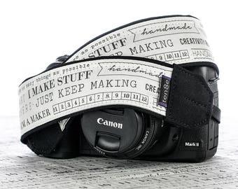 Camera Strap, I'm a Maker...., dSLR, Camera Neck Strap, Canon camera strap, Nikon camera strap, Men's, Women's,  271