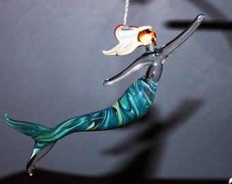 Teal mermaid ornament