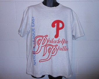 Vintage 1994 The Game Philadelphia Phillies 2 Sided T Shirt L