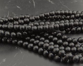 10 6 mm black Agate beads