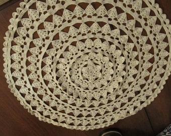 "Vintage Hand Crochet Doilie 20"""