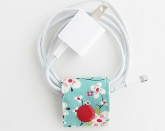 Small Cord Keeper | Cord organizer holder for small cords like USB cables for charging phones or cameras, keyboard and mouse cords, etc.