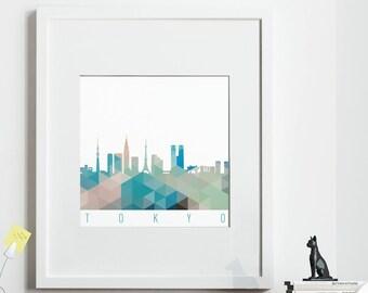 Geometric TOKYO Print, *UNFRAMED* 2 sizes available, Modern Art Print