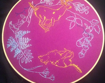 """Life Cycles 10"""" Embroidery Hoop"""