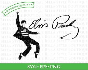 Elvis Presley Jailhouse Rock and Signature svg png eps cut file