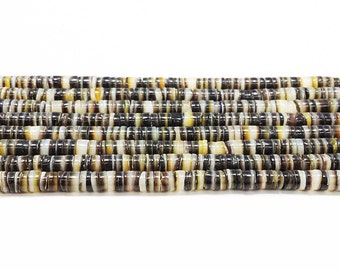Black Lip Shell Heishi ( 4 - 5mm, 24 Inches Strand)