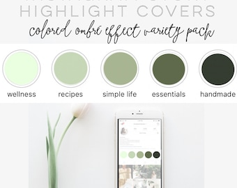 Solid Color/Ombre Effect Instagram Story Highlight Covers
