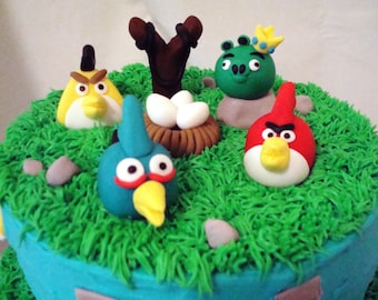 Angry Birds Themed Fondant Decorations