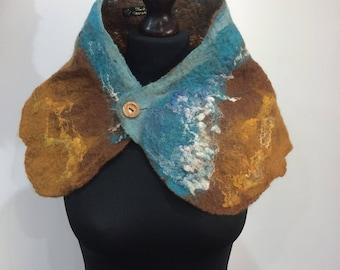 """Felt Cowl scarf """"Tide"""""""