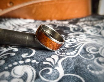Wood ring with Titanium liner