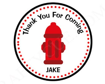 Firetruck Birthday Favor Bag Tags, Firetruck Birthday Goody Bag Tags, Fire Hydrant Favor Bag Tags, Goody Bag Tags