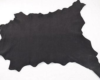 Peau de cuir de chèvre nubuck noir