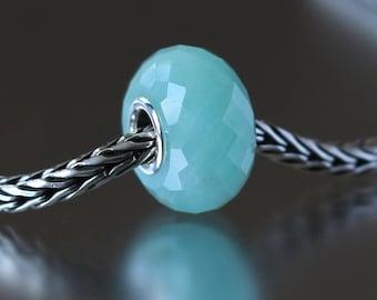 Amazonite faceted semi-precious gemstone 2-20