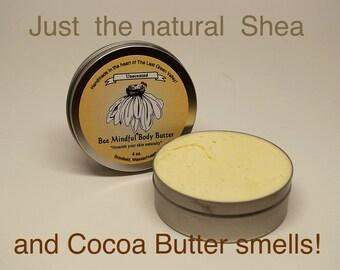 Bee Mindful Body Butter, Shea Body Butter, Moisturizing Shea Body Butter, Natural Body Butter, Unscented Body Butter, Shea,Cocoa Body Butter