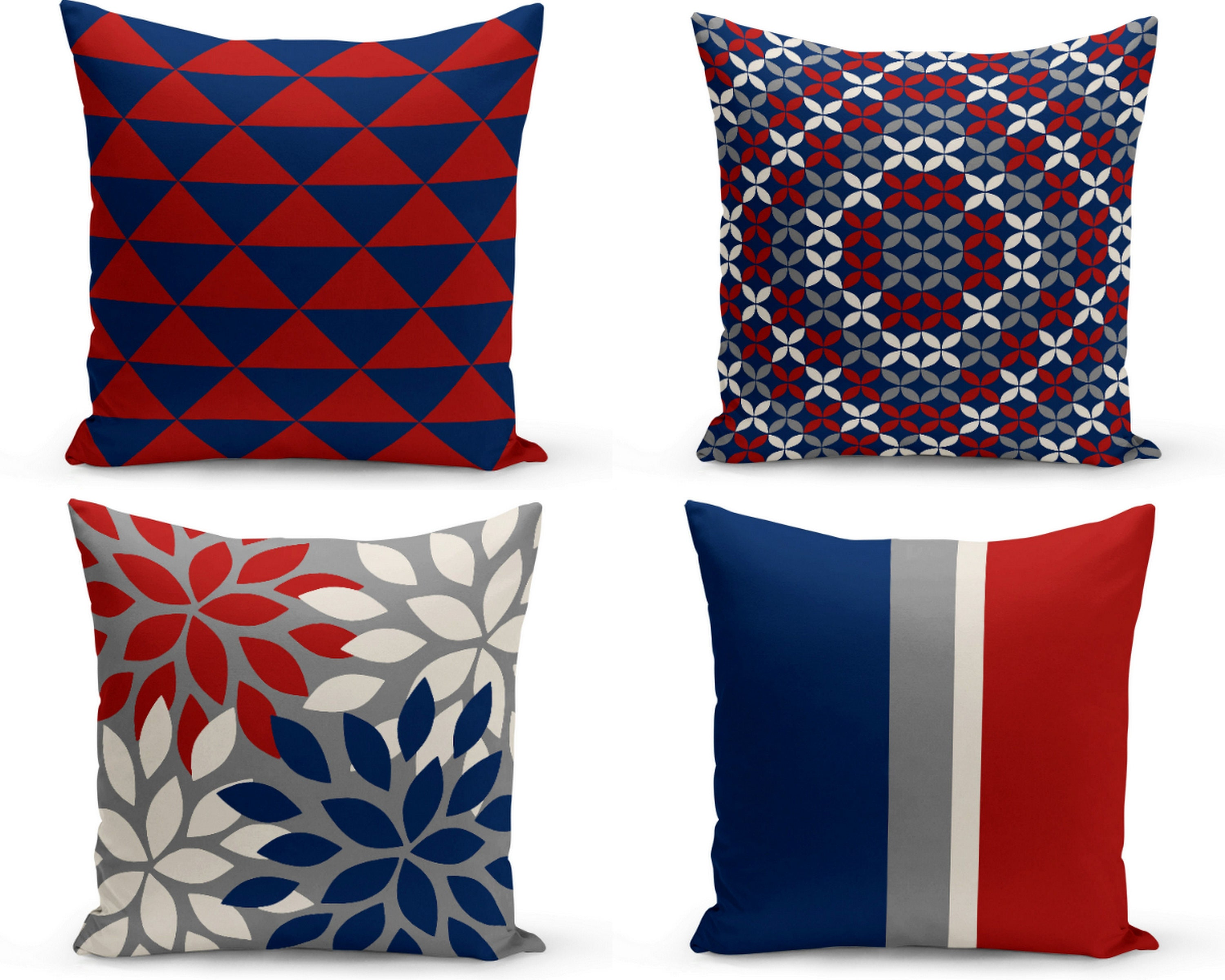 Home Decorators Outdoor Cushions: Outdoor Pillows Grey Red Navy Off White Outdoor Home Decor