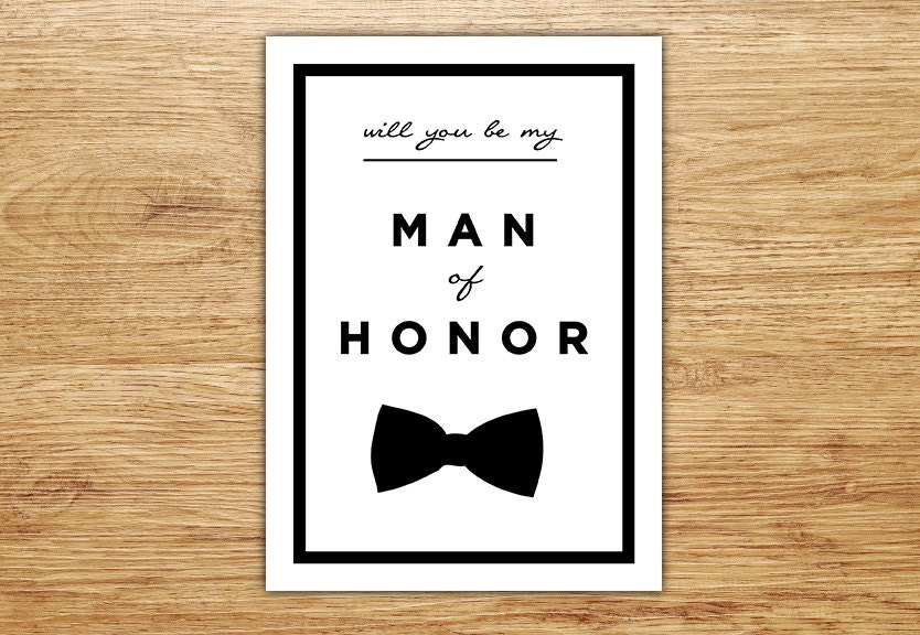 Will you be my man of honor wedding party card man of honor zoom junglespirit Image collections