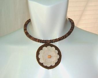 Choker Necklace, Necklace, Choker, Boho Necklace, Beaded Necklace, Beaded Choker, Dainty Choker (brown)