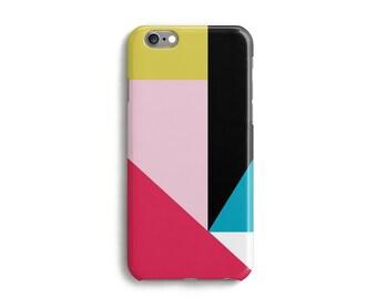 Geometric iPhone Case  iPhone 7 Case Colour block phone Case, 6s 6 Plus 6s Plus 5s 5c and 4s Case Samsung Galaxy S3 S4 S5 S6 S6 Edge - Pink