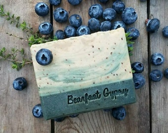 Blueberry Bumble - Goats Milk Soap - Patchouli - All natural soap - PALM FREE- Essential Oil Soap - Cold Process Soap - Handmade Soap