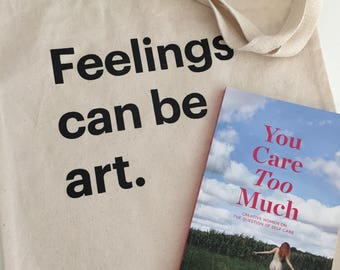 Tote + You Care Too Much Book