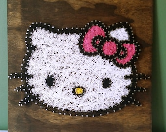 Hello Kitty String Art Sign, Made to Order