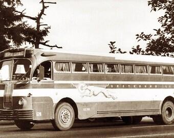 Greyhound Bus Card - Bon Voyage Card - Repro Photo Greeting Card