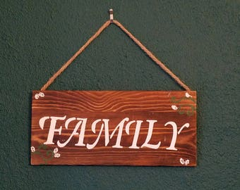 "Rustic ""Family"" Wooden Sign"