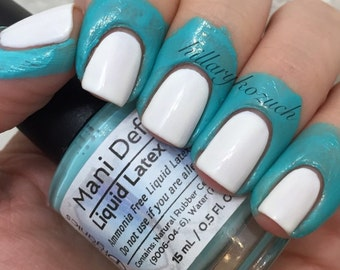 Mani Defender - Liquid Latex for perfect nails - Stocking Stuffer - Use for easy clean up of stamping and nail art