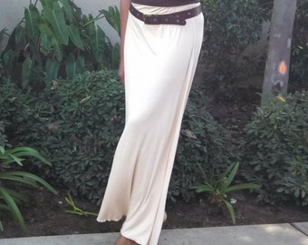 Maxi Skirt, A-Line Knit Maxi Skirt, Pull On Knit Skirt, All Sizes