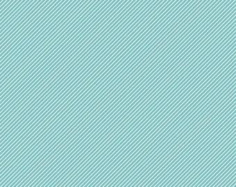 Blue and White Stripe Fabric - Riley Blake Designs Wistful Winds -  Blue and White Pin Stripe - Diagonal Stripe Fabric - Bias Stripe