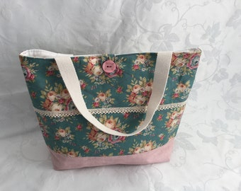 Quilted and Patchwork tote bag