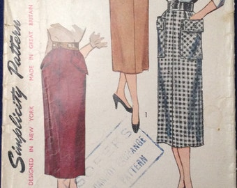 Vintage Rock Schnittmuster Simplicity 3330 Taille 24 1950er 1960er Jahre mid-Century