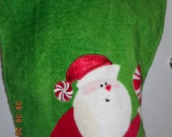 MadieBs Here is Santa Claus  Baby Bib