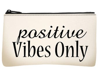 Motivational Words zipper pouch, Pencil case, Small pouch, Small purse, Women, wallet, School supplies bag, Best friend gift